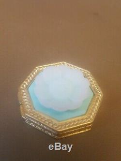 Estee Lauder Jay Strongwater L'hexagone D'or Et De Fleurs En Poudre Compacts