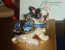 Estee Lauder Jay Strongwater Parfum Solide Compacte Ruban Bleu Bulldog Complet