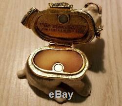 Estee Lauder Jay Strongwater Pleasures Parfum Solide Compacte Ruban Bleu Bouledogue