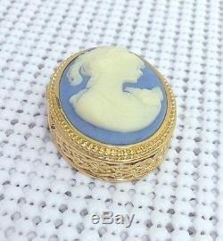 Estee Lauder Jeunes Dew Bleu Cameo Solide Parfum Compact Orig. Box Mib C. 1986