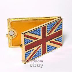 Estee Lauder Jeweled Flag Of Britain Solid Perfume Compact 2012 Harrods