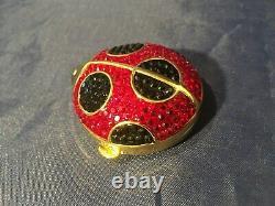 Estee Lauder Lady Beetle Bug Lucidity Poudre Pressée Compact Avec Pochette Et Boîte