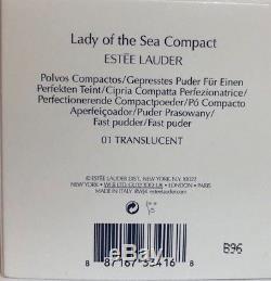 Estee Lauder Lady Of Sea Compact 01 Poudre Pressée Translucide 0.1oz Le Nib