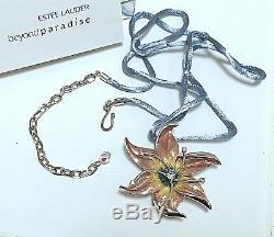 Estee Lauder / Lalique Fantasy Parfum De Fleurs Collier Solid Compact Orig. Des Boites