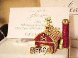 Estée Lauder Little Red Grange Parfum Solide Compact 1/600 Étiquette Parfait Mibb