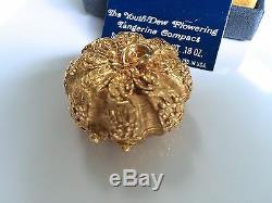 Estee Lauder Mandarine Avec Les Jeunes-dew Solide Parfum Compact En 1972 Orig Box Rare
