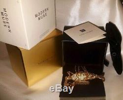 Estee Lauder Moderne Muse D'or Articulé Poisson Parfum Solide Collier Nouveau