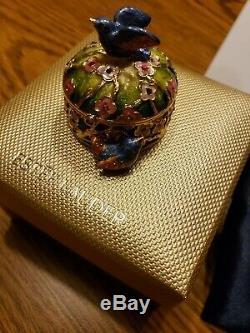 Estée Lauder Oiseaux Précieux Compact Pour Parfum Solide Par Jay Strongwater Nib