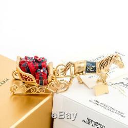 Estee Lauder One Horse Sleigh Ouvert Parfum Solide Compact Mint Les Deux Boîtes Mib