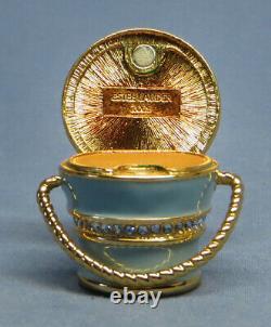 Estee Lauder Palm Beach Treasure Pail Solid Perfume Compact Excellent État