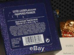 Estée Lauder Pampered Pékinois Chien Parfum Solide Compact Pleasures 2005