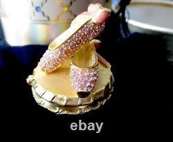 Estee Lauder Pantoufles De Ballet Rose Solide Parfum Compact 1999 Full In Box