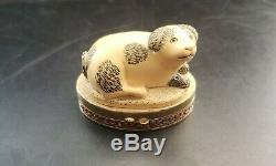 Estee Lauder Parfum Cinnabar Solide Compact Imperial Dog 1984 Pleine Rare