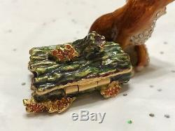 Estee Lauder Parfum Compact 2003 Fiery Fox Mint White Linen Jay Strongwater