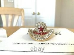 Estee Lauder Parfum Compact Compact Mibb Dazzling Gold Cowboy Hat Red Star