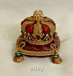 Estee Lauder Parfum Compact Solide Jay Strongwater Bejeweled Crown 2005 No Box
