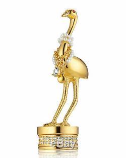 Estee Lauder Parfum Pleasures Massif En Bois Exotique Oiseau D'or Compact Neuf Dans La Boîte