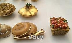 Estee Lauder Parfum Solid Lot Lot Chat Enamel Turtle Bird Cameo Lapin Coquille
