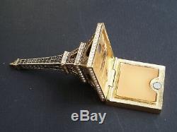 Estee Lauder Parfum Solide Au-delà De Paradis Tour Eiffel 2006 Compact Jewel