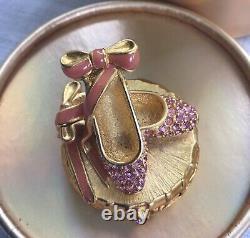 Estee Lauder Parfum Solide Compact 1999 Ballet Pantoufles Belle Nib