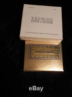 Estee Lauder Parfum Solide Compact Ananas Dorés Connaissant 1996 Mib