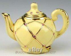 Estee Lauder Parfum Solide Compact Dazzling Or Teapot Non Utilisé Non Box