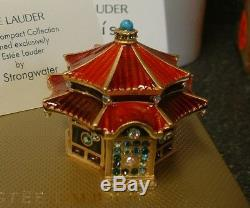 Estee Lauder Parfum Solide Compact Jay Strongwater Enchanteur Pagoda 2 Boîtes