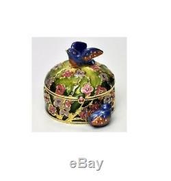 Estee Lauder Parfum Solide Compact Jay Strongwater Oiseaux Précieux Les Deux Boîtes