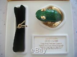 Estee Lauder Parfum Solide Compacte Vert Leap Frog Lin Blanc Mib So Cute