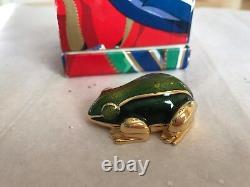 Estee Lauder Perfume Compact Grenouille Verte Crapaud Collection De Vacances 1989