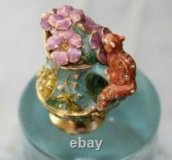 Estee Lauder Pitcher Magique Parfum Solide Par Jay Strongwater Enamel Box