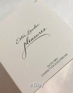 Estee Lauder Pleasures Exotic Bird Solide Compact Collectables 2017 Le Nib