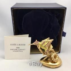Estee Lauder Pleasures Fluoring Hummingbird Compact Solide Parfum Avec Des Boîtes