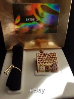Estee Lauder Pleasures Gingerbread House Compact Pour Parfum Solide Nouveau