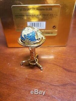 Estee Lauder Pleasures Globe Parfum Solide Compact 2001 Mib