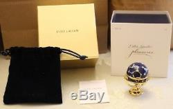 Estee Lauder Pleasures Globe Scintillant Compact Pour Parfum Solide Tout Neuf