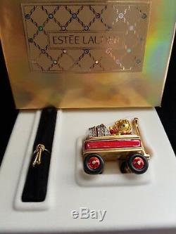 Estee Lauder Pleasures Lettle Red Wagon Compact Pour Parfum Solide Nouveau