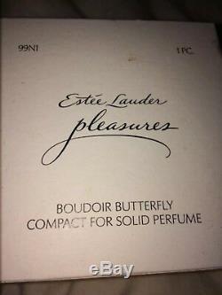 Estee Lauder, Pleasures Papillon Boudoir Solide Compact Parfum (signé!)