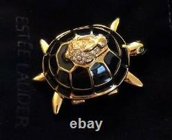 Estee Lauder Pleasures Turtle Endurance Solid Compact Collectable 2016 Le Nib