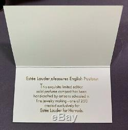 Estee Lauder Pleasures-anglais Postbox Parfum Solide Compact-94m4 Originaux Boîtes