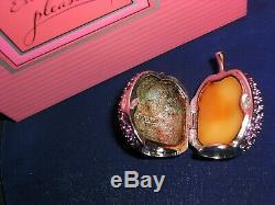 Estee Lauder Plum Belle Solide Parfum Compact Violet 1998 Jamis Utilisé