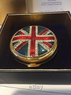 Estee Lauder Poudre Compacte Union Jack 2004 Ltd Rare Htf Mibb Gorgeous