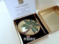 Estee Lauder - Poudre De Palmiers Tropicaux - Cristaux Autrichiens Compacts, Boîte, Cadeau Saint-valentin