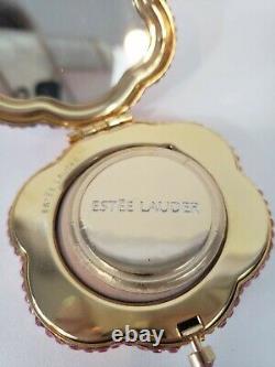 Estee Lauder Powder Compact All The Buzz Hummingbird Crystal Joaillé