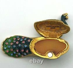 Estee Lauder Precious Peacock Compact For Solid Perfume Pleasures Parfum 2003