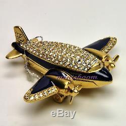 Estee Lauder Precious Plane Compact Pour Parfum Solide 2007 Nouveau Avec Toutes Les Boîtes