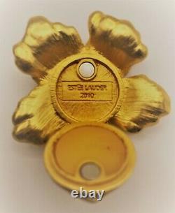 Estee Lauder Purple Hibiscus Jay Strongwater Conçu Solide Parfum Compact