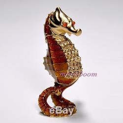 Estee Lauder Radiant Seahorse Compact Pour Parfum Solide 2007 Nouveau Toutes Les Boîtes