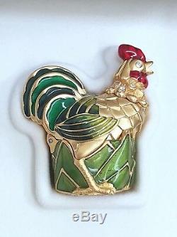 Estee Lauder Rooster Solid Parfum Compact Avec Lin Blanc In Orig.