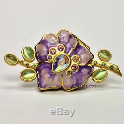 Estee Lauder Sensuous Vibrant Violet Compact Parfum Solide Par Jay Strongwater